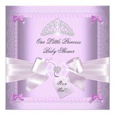 Little Princess Baby Shower Girl Lavender Custom Announcement