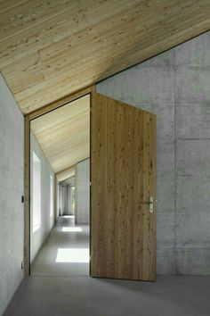 Sloped ceiling door