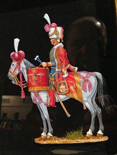 Timpanista dei cacciatori della guardia imperiale francese