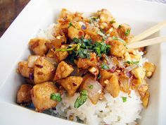 Cashew Chicken with Coconut Rice