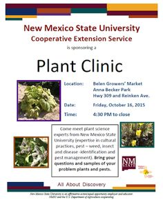 NMSU Plant Clinic: NMSU's Extension Service to Hold Plant Clinics in ...