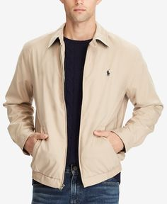 804ca29881ed9 Polo Ralph Lauren Men s Lightweight Windbreaker - Khaki S
