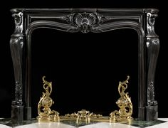 French Louis XV style antique fireplace