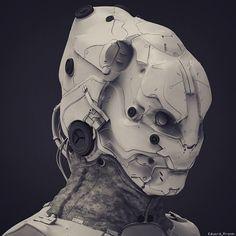 Helmet sketch, Eduard Pronin on ArtStation at https://www.artstation.com/artwork/helmet-scetch