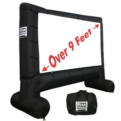 EasyGo Products Inflatable Mega Movie Screen - Canvas Projection Screen for Outdoor Parties - Movie Cinema is Guaranteed to Thrill and Excite. Includes Inflation fan, Tie-Downs and Storage bag Backyard Movie Party, Outdoor Movie Party, Outdoor Movie Screen, Backyard Movie Nights, Outdoor Screens, Outdoor Movie Nights, Movie Night Party, Outdoor Theater, Family Movie Night