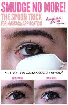 Smudge No More! The Spoon Trick For Mascara Application
