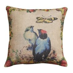 I pinned this Blue Birds Pillow from the Animal Kingdom event at Joss and Main!