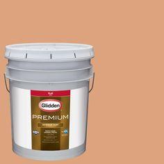 Glidden Premium 5-gal. #HDGO24 Toasted Coconut Flat Latex Exterior Paint