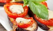 Grape Tomatoes and Eggplant #appetizer #snack