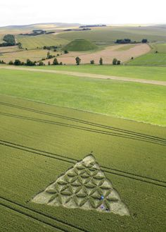 Crop circles | Intricate: The crop circle of triangular design, which is decorated ...