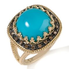 I love chocolate diamonds and turquoise!  This is on HSN!