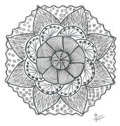 Doodles 'N' Tangles: Zendala Dare # 34