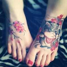 Cat foot tattoo - 100  Examples of Cute Cat Tattoo  <3 <3