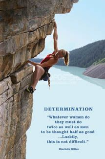 DETERMINATION Rock Climbing Rappelling Motivational Inspirational POSTER Print