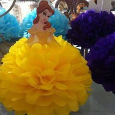 24 New Ideas For Baby Shower Girl Princess Beauty And The Beast Disney Princess Birthday Party, Cinderella Party, Princess Theme, Princess Beauty, Beauty And Beast Birthday, Beauty And The Beast Theme, Birthday Party Decorations, 3rd Birthday Parties, Princess Party Centerpieces