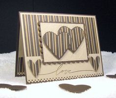 Regal Masculine Valentine's Day by - Cards and Paper Crafts at Splitcoaststampers Regal Masculine Valentine's Day by – Cards and Paper Crafts at Splitcoaststampers My Funny Valentine, Valentine Love Cards, Homemade Valentines, Wedding Anniversary Cards, Wedding Cards, Birthday Cards For Men, Greeting Cards Handmade, Scrapbook Cards, Homemade Cards