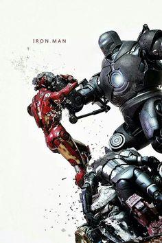Iron Man vs Iron Monger ... War Machine down !!! ¤°