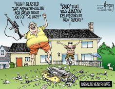 People hunt the drones!