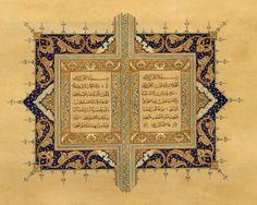 Persian Calligraphy, Iranian Art, Illuminated Manuscript, Islamic Art, Magick, Quran, Bohemian Rug, Vintage World Maps, Diy And Crafts