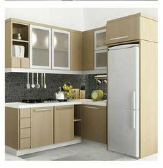 New Kitchen Contemporary Cabinets Interior Design Ideas Small Kitchen Cabinets, Kitchen Sets, Home Decor Kitchen, Interior Design Kitchen, Kitchen Furniture, Home Kitchens, Interior Ideas, Contemporary Cabinets, Kitchen Contemporary
