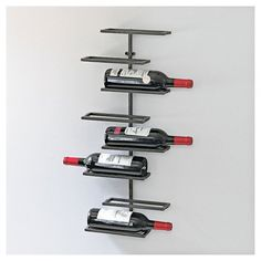 Wine Enthusiast 8 Bottle Urban Wall Wine Rack Black - The Wine Enthusiasts. http://shopstyle.it/l/mByW