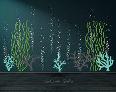 Underwater Decal Ocean Decal Bubble Wall by GetCreativeStudios