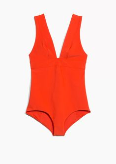 & Other Stories image 1 of V-Neck Swimsuit in Red