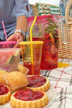 Himbeer-Zitronen-Eistee & Ein Picknick im Grünen mit tescoma #anzeige #tescoma #icetea #eistee