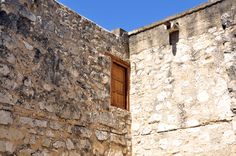 alamo style broken wall with lights - Google Search