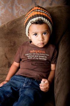 Adoption tee.