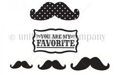 Favorite Mustache {Echo Park Itty Bitty}