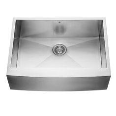 VIGO VG3020C 30-Inch Farmhouse Zero Radius Single Bowl - Farmhouse Sinks - Kitchen Sinks - Kitchen