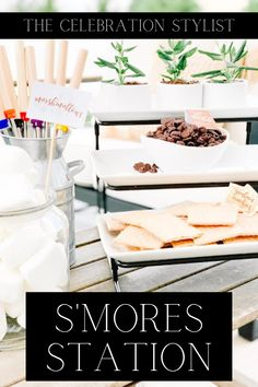 S'mores are the perfect summer treat for kids and adults. Find out how to create the perfect s'mores set-up that is both kid and adult friendly. Summer Party Themes, Summer Parties, Holiday Parties, Party Ideas, Summer Fun, Giant Marshmallows, Party Stations, Kids Picnic Table, Festive Crafts