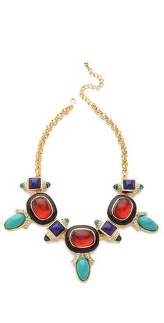Kenneth Jay Lane Deco Necklace