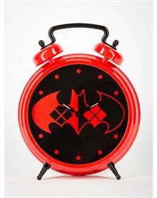 Harley Quinn Twin Bell Wall & Desk Clock