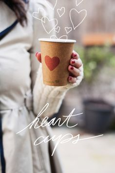 Hand Stamped Cups | Oh Happy Day