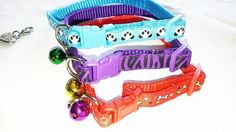 AG ProfPro, Set of 3 mixed color, Adjustable Cat Collar with bell, Special Jewelry, also good for Small Dogs, puppies, kitten. * Special cat product just for you. See it now! : Cat accessories