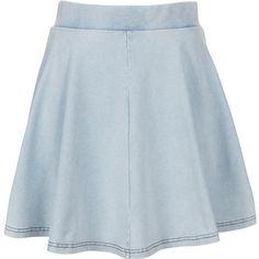 A fashion look from August 2013 featuring mickey mouse sweatshirt, open cardigan and cap sleeve top. High Waisted Skater Skirt, Flare Skirt, Skater Skirts, Look Skater, Denim Look, Blue Denim, Dress Skirt, Waist Skirt, Fashion Styles