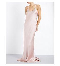 OLIVIA VON HALLE Perminova Long Silk Nightdress. #oliviavonhalle #cloth #sleepwear & lingerie