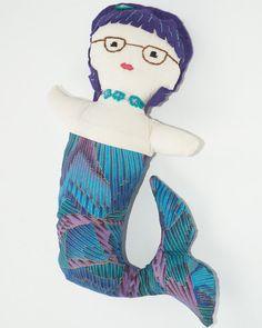 SALE Hipster Mermaid Doll Mermaid Ragdoll by WoolflowerBoutique