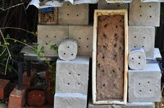 s Blue Banded Bee Hotel Photo Sustainable Environment, Sustainability, Stingless Bees, Habitats, Bottle Opener, Blue, Key Bottle Opener, Sustainable Development