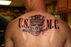 Marine Corps Tattoos: Usmc Back Marine Tattoo Design ~ tattoosartdesigns.com Tattoo Ideas Inspiration