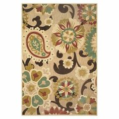 """Stylishly anchor your living room or master suite with this lovely rug, featuring a paisley-inspired motif in tan and brown.   Product: RugConstruction Material: PolypropyleneColor: Tan and brownFeatures:  Made in Turkey0.5"""" Pile height Note: Please be aware that actual colors may vary from those shown on your screen. Accent rugs may also not show the entire pattern that the corresponding area rugs have.Cleaning and Care: Vacuum without a beater bar. Rug pad recommended for use on hard ..."""