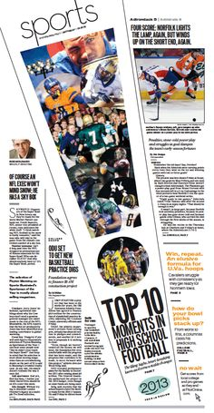 Love this diagonal pop out design #yearbook Sports, Dec. 21, 2013.