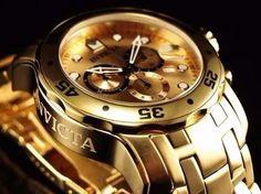 relógio invicta pro diver 0074 dourado  original carlito_siqueira@hotmail.com