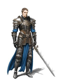 m Fighter Plate Cape Sword Knight Human - Pathfinder PFRPG DND D&D d20 fantasy