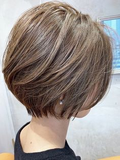 Japanese Short Hair, Asian Short Hair, Short Hair With Bangs, Short Hair Back View, Medium Hair Styles For Women, Tomboy Hairstyles, Hair Upstyles, Shot Hair Styles, Yahoo Beauty