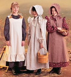 Little House On The Prairie Costume Sewing Pattern Pioneer Amish Dress Pinafore Bonnet Sold