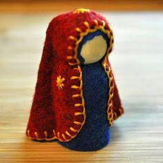 tutorial for dressing peg doll in felt
