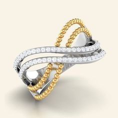 Shop DesignerMarbles Of Love Diamond Ring at Caratstyle - Available at 14kt/18kt in White Gold Or Rose Gold with Free Shipping. Online Jewelry Shopping Store in India.